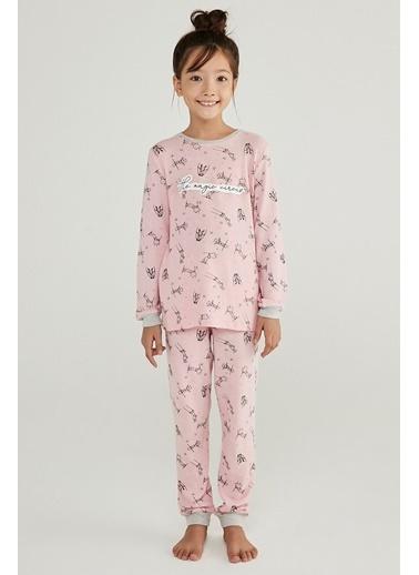 Penti Orchıd Kız Çocuk Cırcus 2Li Pijama Takımı Mor